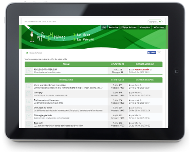 Forum vert - ftm-info disponible sous tablette